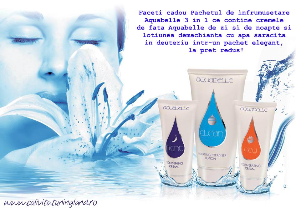 Aquabelle cu apa saracita in deuteriu